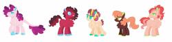 Size: 1280x319 | Tagged: safe, artist:lullabythesloth, artist:selenaede, base used, oc, parent:big macintosh, parent:cheerilee, parent:fluttershy, parent:pinkie pie, parent:rarity, parent:roseluck, parents:cheerimac, parents:cheeripie, parents:cheerishy, species:earth pony, species:pegasus, species:pony, species:unicorn, g4, adoptable, female, male, parents:cheeriluck, parents:rarilee