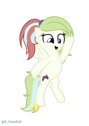 Size: 771x1090 | Tagged: safe, artist:s-class-destroyer, oc, oc:gamer beauty, species:pegasus, species:pony, controller, digital art, female, happy, jumping, open mouth, pegasus oc, raised hoof, simple background, solo, solo female, transparent background, vector, video game