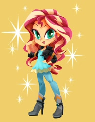 Size: 936x1200 | Tagged: safe, artist:binco_293, character:sunset shimmer, species:eqg human, g4, my little pony:equestria girls, rainbow rocks outfit, solo, sparkles