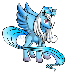 Size: 1024x1131 | Tagged: safe, artist:zenkitsune, oc, species:alicorn, species:pony, alicorn oc, articuno, crossover, nintendo, pokémon, ponified, simple background, species swap, spread wings, transparent background, video game, watermark, wings