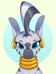 Size: 914x1200 | Tagged: safe, artist:aquaticvibes, character:zecora, species:zebra, g4, big ears, bust, solo