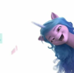 Size: 717x712 | Tagged: safe, screencap, character:izzy moonbow, species:pony, species:unicorn, g5, faec, gradient mane, great moments in animation, solo
