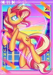 Size: 848x1200   Tagged: safe, artist:musicfirewind, species:pony, species:unicorn, g4, solo, vaporwave