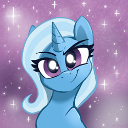 Size: 1280x1280   Tagged: safe, artist:pfeffarooart, character:trixie, species:pony, species:unicorn, g4, bust, confident, solo