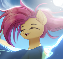 Size: 2137x1989   Tagged: safe, artist:jfrxd, character:fluttershy, species:pegasus, species:pony, g4, bust, cute, eyes closed, high res, open mouth, open smile, shyabetes, smiling, solo