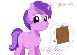Size: 1280x905 | Tagged: safe, artist:supermarine_spitfire, character:amethyst star, character:sparkler, species:pony, species:unicorn, g4, art challenge, clipboard, manechat challenge, simple background