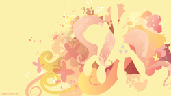 Size: 3840x2160 | Tagged: safe, artist:spacekitty, character:fluttershy, species:pegasus, species:pony, g4, abstract background, cutie mark, cutie mark background, digital art, female, license:cc-by-nc-nd, mare, ponytail, silhouette, solo, spread wings, vector, wings