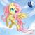Size: 900x895 | Tagged: safe, artist:metalpandora, species:pegasus, species:pony, butterfly, cloud, cute, female, flying, mare, photoshop, sky, solo, spread wings, watermark, wings