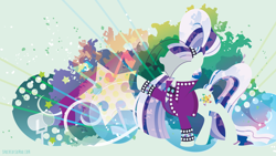 Size: 3840x2160   Tagged: safe, artist:spacekitty, character:coloratura, character:countess coloratura, species:earth pony, species:pony, g4, license:cc-by-nc-nd, abstract background, clothing, cutie mark, digital art, female, jacket, mare, silhouette, solo, vector, veil