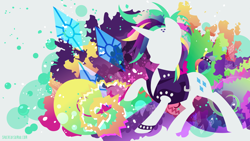 Size: 3840x2160   Tagged: safe, artist:spacekitty, character:rarity, species:pony, species:unicorn, episode:it isn't the mane thing about you, g4, license:cc-by-nc-nd, abstract background, anklet, clothing, cutie mark, digital art, female, jacket, jewelry, mare, punk, punkity, silhouette, solo, vector