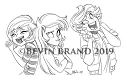 Size: 1280x768   Tagged: safe, artist:bevin brand, character:timber spruce, oc, oc:pauly sentry, species:eqg human, g4, my little pony:equestria girls, commission, obtrusive watermark, official fan art, watermark