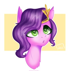 Size: 1185x1200 | Tagged: safe, artist:cloudberry_mess, character:pipp petals, species:pegasus, g5, bust, circlet, pipp wings, solo