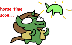 Size: 1592x999 | Tagged: safe, artist:riddleoflightning, oc, oc only, oc:latent logic, species:pony, species:unicorn, bean pony, comic sans, plushie, text, toy, transparent background