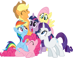 Size: 900x712 | Tagged: safe, artist:richhap, character:applejack, character:fluttershy, character:pinkie pie, character:rainbow dash, character:rarity, character:twilight sparkle, character:twilight sparkle (unicorn), species:earth pony, species:pegasus, species:pony, species:unicorn, applejack's hat, clothing, cowboy hat, hat, mane six, stetson
