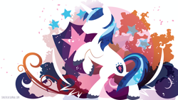 Size: 3840x2160   Tagged: safe, artist:spacekitty, character:shining armor, species:pony, species:unicorn, g4, license:cc-by-nc-nd, abstract background, cutie mark, digital art, male, rearing, silhouette, simple background, solo, stallion, vector, white background