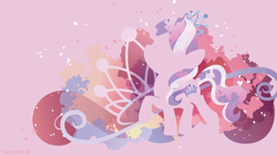 Size: 3840x2160   Tagged: safe, artist:spacekitty, character:diamond tiara, species:earth pony, species:pony, g4, license:cc-by-nc-nd, abstract background, cutie mark, digital art, female, filly, jewelry, silhouette, solo, tiara, vector, young