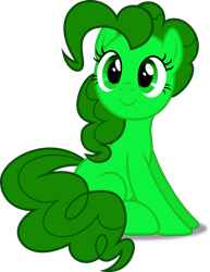 Size: 720x931 | Tagged: safe, artist:pagiepoppie12345, character:pinkie pie, species:earth pony, species:pony, g4, digital art, female, mare, monochrome, recolor, simple background, sitting, smiling, transparent background, vector