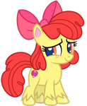 Size: 1024x1252 | Tagged: safe, artist:emeraldblast63, character:apple bloom, species:earth pony, species:pony, episode:disappearing act, g4, g4.5, my little pony: pony life, my little pony:pony life, alternate design, apple family member, cute, digital art, female, filly, g4.5 to g4, redesign, simple background, solo, transparent background, vector, young
